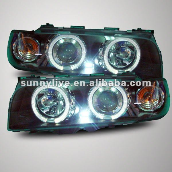 For Bmw E38 728 730 735 740 750 Head Lamp Angel Eyes 95 To 98 Year ...