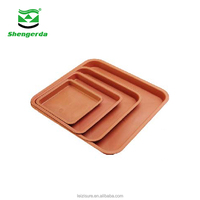 Wholesale cheap plastic square saucers indoor clay terracotta looking flower pots and planters plant saucer tray plate