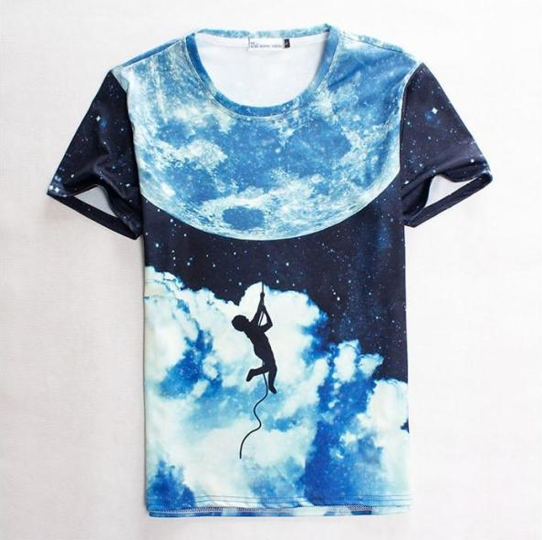 Fashion leading new design 2016 men 3d t shirt manufacturer cheap quick dry T shirt for men