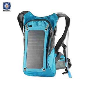 Hydration backpack With 5V solar powered panel 2l water bladder back pack hydration bag