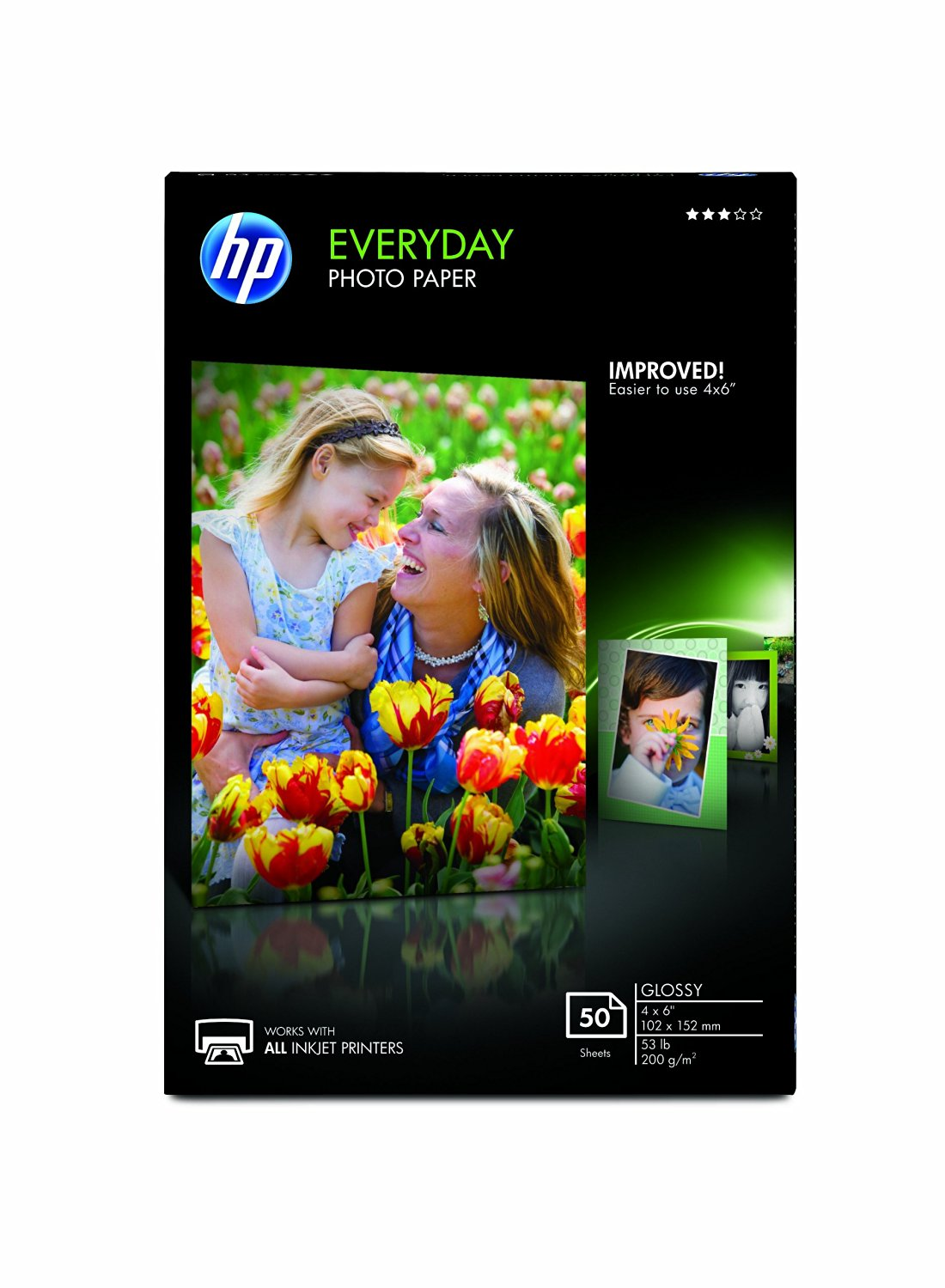 """HP Everyday Photo Paper, Glossy (4x6"""", 50 sht)"""