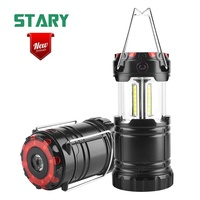 2019 new 4 modes battery operated emergency camping light with lantern led flashlight and red flash light