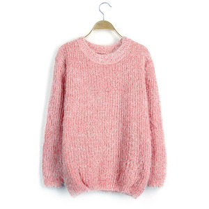 Cardigan Long Sleeves Big Pocket Knit Sweater Woman