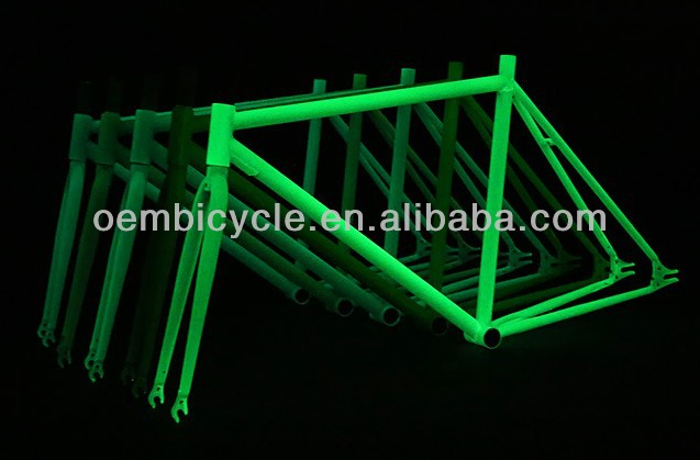 colorful 700C fixed gear bike noctilucence/luminous/glow frame