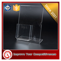 High end acrylic brochure holder display stand for hotel or store