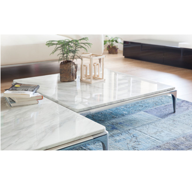 Marble And Granite Top Coffee Table
