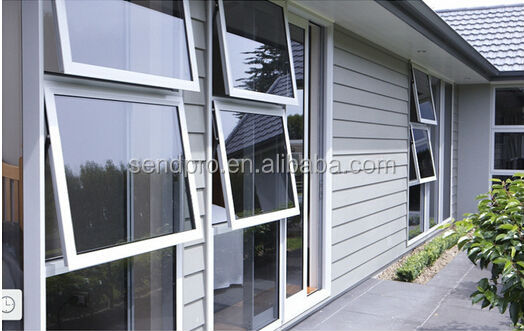 Double Awning Windows : Chain drive window aluminum awning double