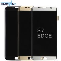 2016 HOT selling lcd assembly for samsung s7 edge phone g9250 refurbished lcd display