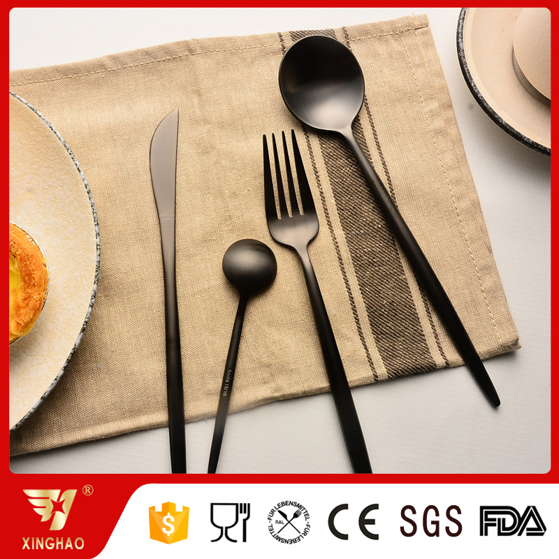 PVD Black color cutlery, Flatware Black, Black Knife Spoon Fork