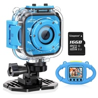 2018 Best Boys Girls Gifts Kids Waterproof Camera with Video Recorder Includes 8GB Memory Card