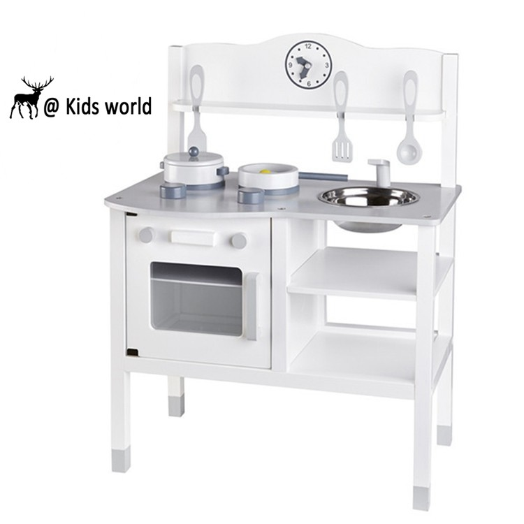 China Supplier Hot Selling Wholesale Wood Play Kitchen Set Kids Wooden Pretend Play Kitchen