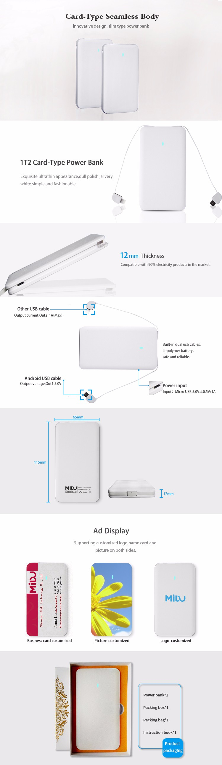 Factory Price puters Consumer Electronics Solar Power Bank
