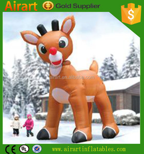 inflatable lighting xmas deer for yard decoration inflatable deer for christmas