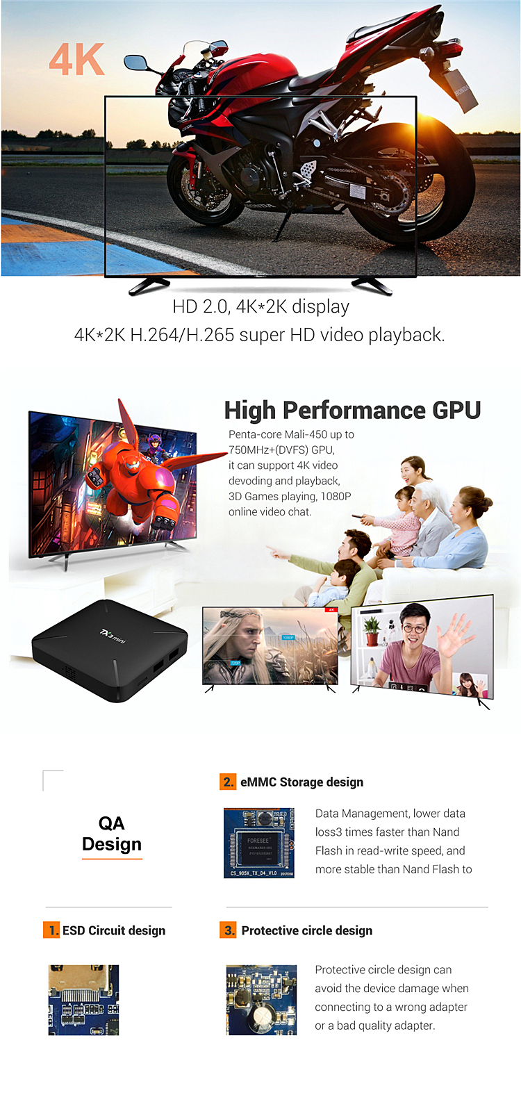 New coming 2019 TX3 mini L Factory price Quad core 4K full HD android 7.1 tv box 2/16G ROM tv box S905W in New year