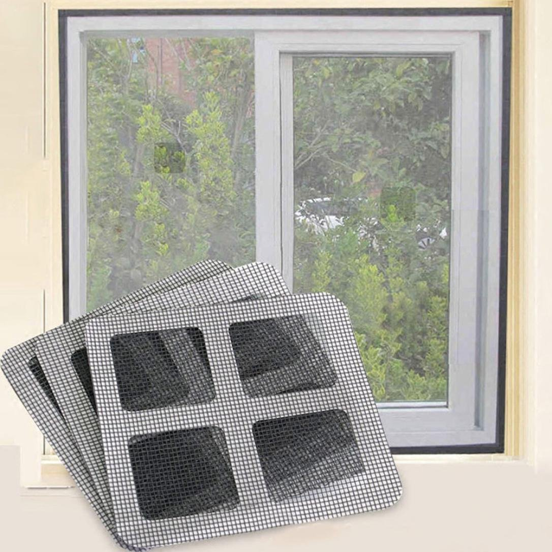 Hunt Gold 3Pack Screen Door Repair Patch Curtain Hole Network Window Sticker Anti-Insect Mosquito Net 10x10cm