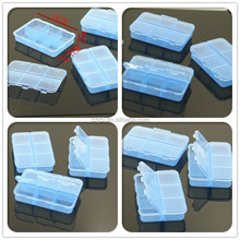 Small clear plastic square box/ case/ container with lid