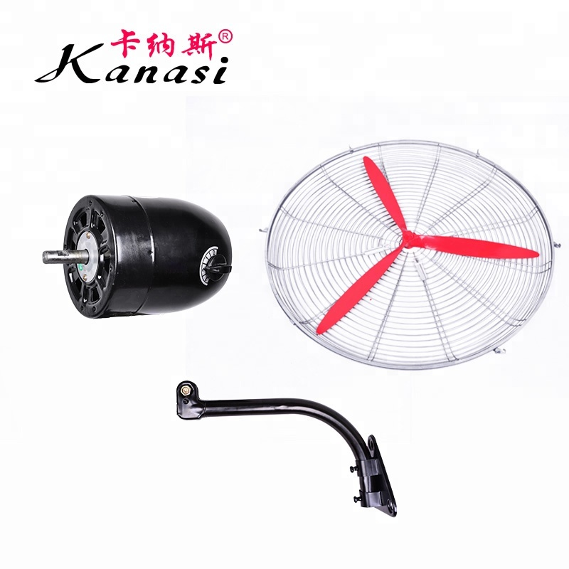 20 26 30 Inch Industrial metal Big Size Cheap Electric Motor Mounted 3 Blades 110v Wall mounted Fan for outdoor