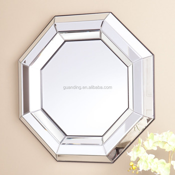 Octagon Wall Mirror With Bevelled Edge Home Decorative Wall Mirror