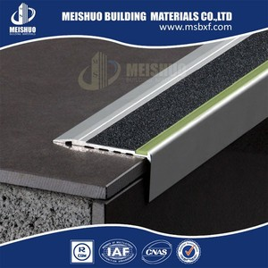 PVC rubber insert step nosing for outdoor ceramic stairs lamination