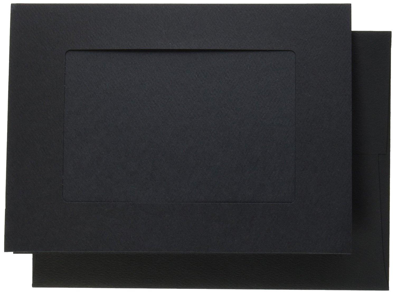 Strathmore Photo Frame Cards, Black, Cutout Window, 10 Cards & Envelopes
