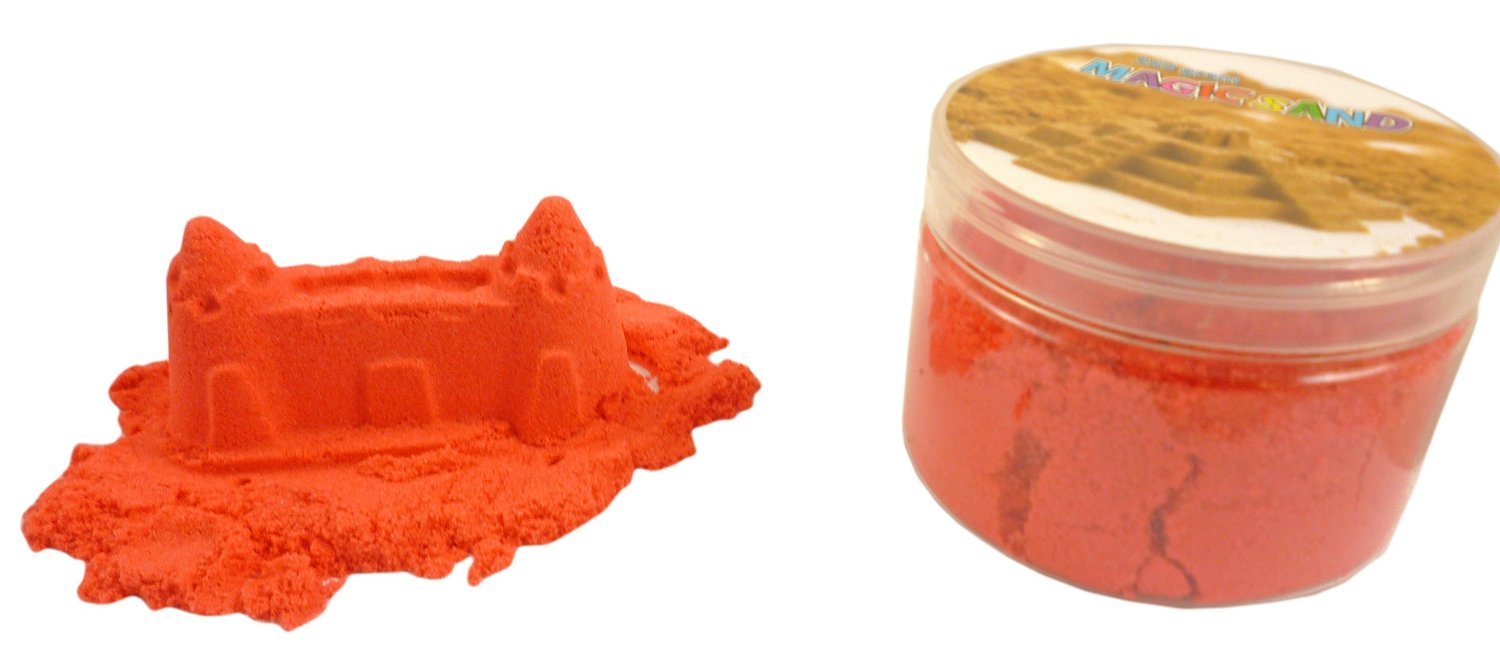 Magic Sand Refill - 250g- RED - Play Sand With No Mess! - Sculpture, Mold And...