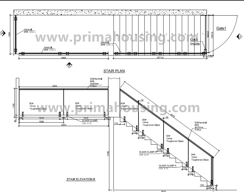 tempered glass panel railings for indoor stairs prices pr