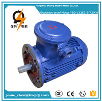 7.5KW 2P 380V AC explosion proof electric motor with cooling fan