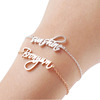 custom stainless steel wedding bridesmaid gifts accessories engraved personalized name cuff bracelet