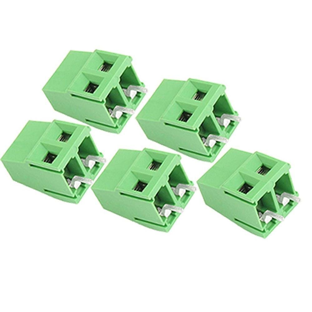 5 pcs 2 Pin 5.08mm Pitch PCB Mount Screw TermInal Block 10A