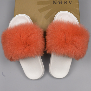 0cb460131aa55 Real Fur Flip Flops New Style Fluffy Fox Fur Slide Slippers For Ladies  Sandals - Buy Slides Fur,Fur Sandals Ladies,Fluffy Fur Slides Product on ...