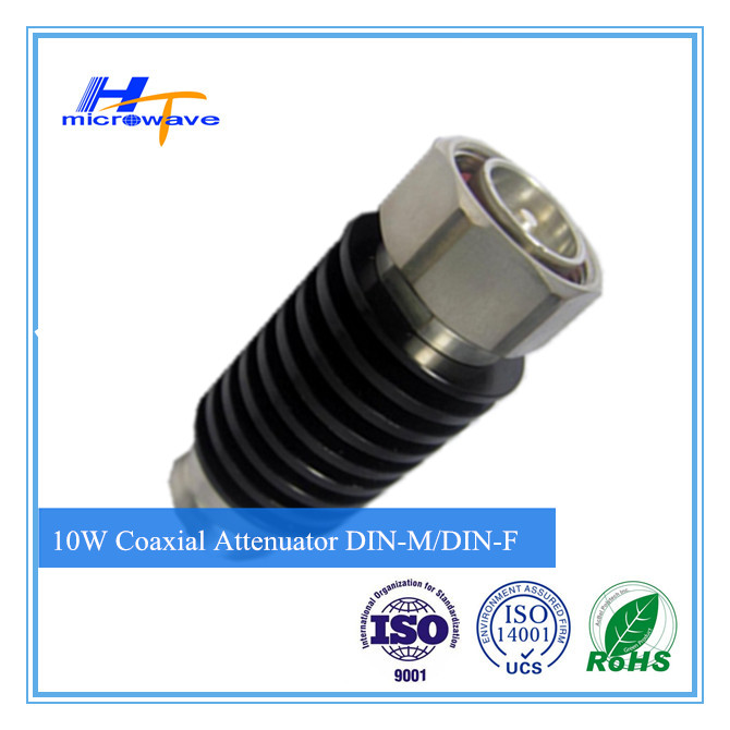 RF Coaxial Attenuator DC-3GHz 10W DIN-M/F type connector (Telecommunication)