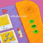 Children learning book music Super Noisy Interactive sound book & reading pen / sound module for children book with push button