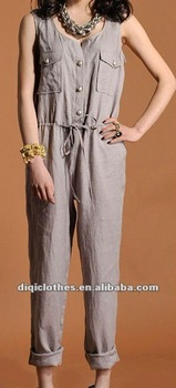 fashion lady linen jumpsuit
