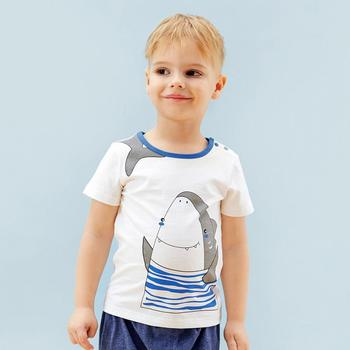New product summer design custom size chart cartoon printing for boy tshirt