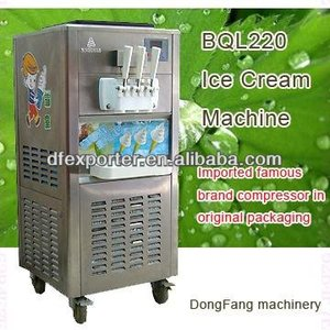 second hand ice cream machine BQL220 floor standing soft ice cream machine