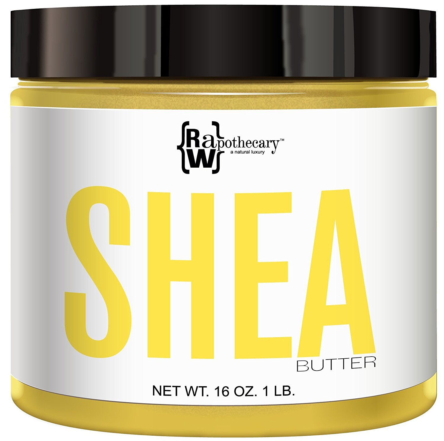 Yellow Shea Butter, 100% All Natural by Raw Apothecary- Top-Grade, Unrefined and Additive Free Yellow Butter (1 Pound)