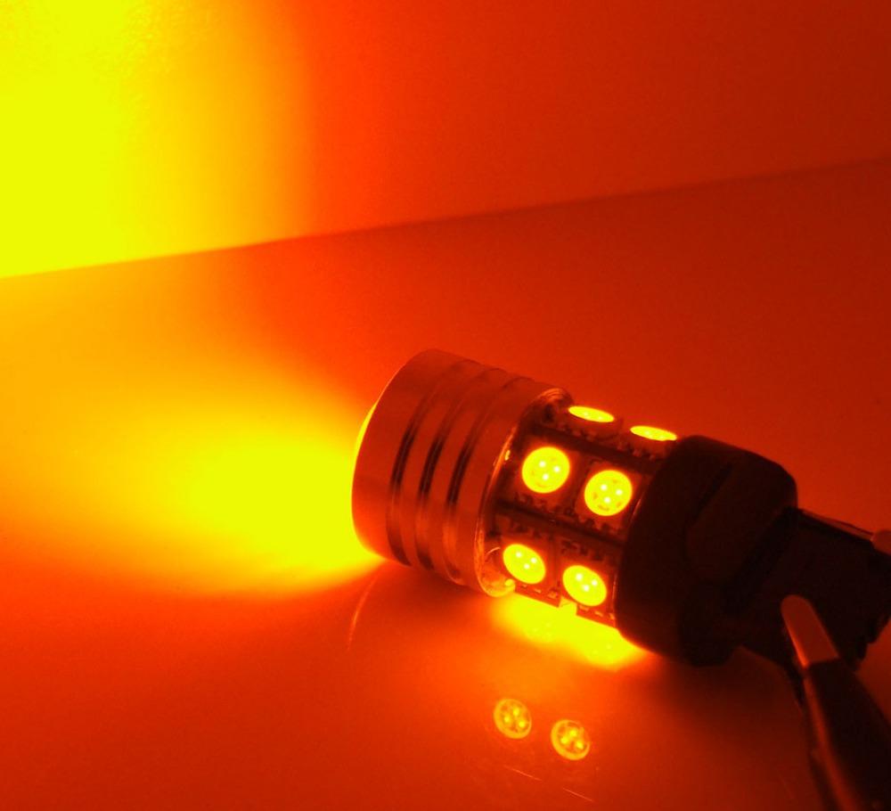 2 x 3157 Q5 + 12SMD желтый автомобилей сигнала поворота из светодиодов свет для Chrysler 300C додж магнум