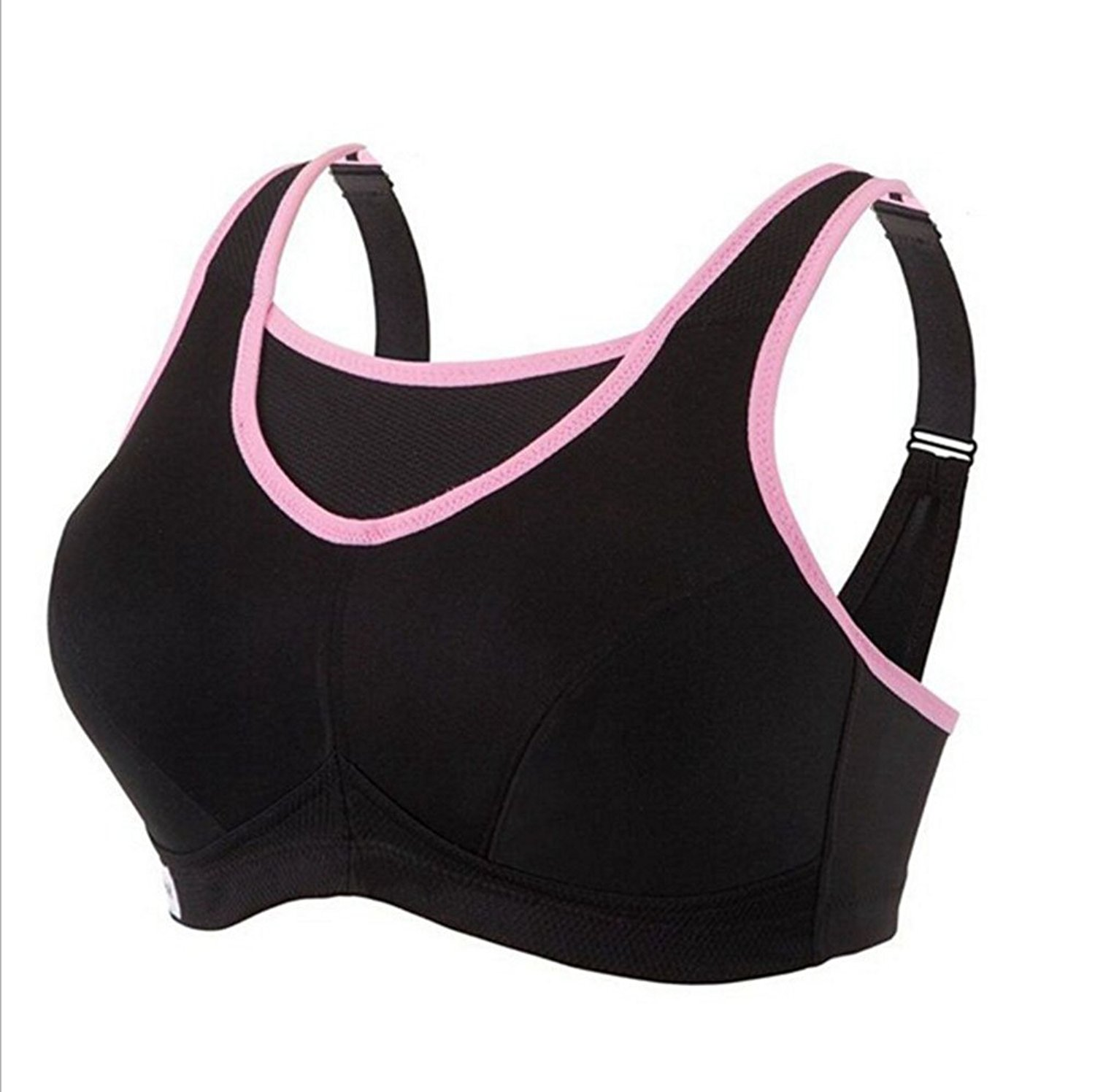 ddb73b87375969 Get Quotations · believelf Women s Sport Bras High Impact No-Bounce Plus  Size Workouts Gym Yoga Bras Activewear