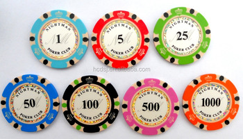 custom made 3 tone clay poker chips with your own logo3 color casino poker - Clay Poker Chips