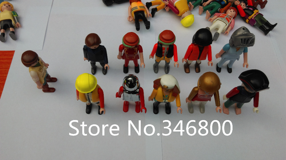 10 pcs/pack Playmobil Figures Knights People Horses Native American Random Child Toy Free Shipping