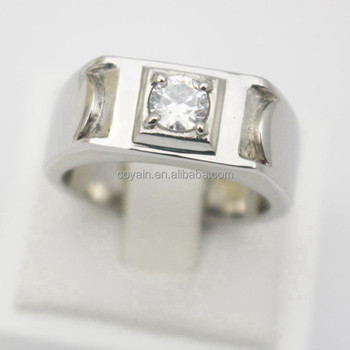 Design Your Own Silver Jewelry Cheap Stainless Steel Men Women Engagement Rin