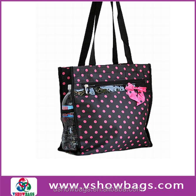 Fashion Design Flower Printing Beach Bag Canvas Beach Tote Bag ...