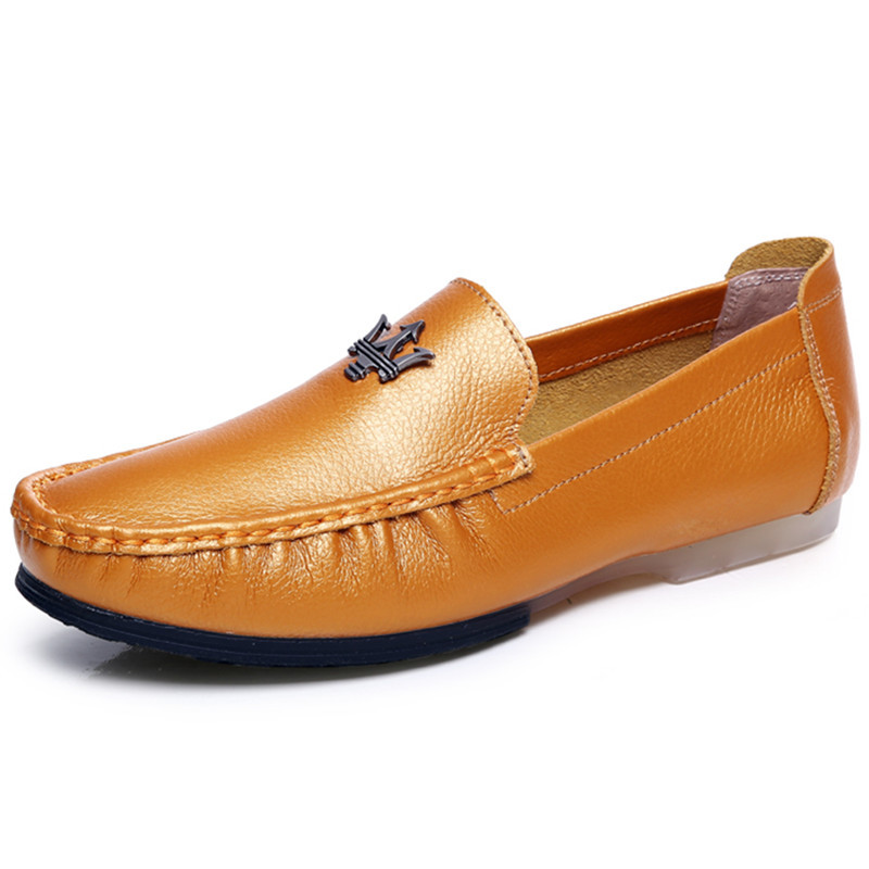 2e9248102a Get Quotations · Luxury Brand Design Men Loafers Genuine Leather 2015 High  Quality Men Boat Shoes Male Flats Penny