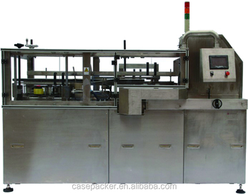 Horizontal automatic carton box case erector&bottom sealer machine