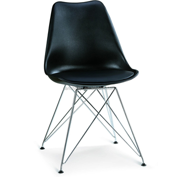 Remarkable Modern Pp Seat With Chromed Steel Leg Plastic Chair Buy Black Metal Dining Chair White Leather Dining Chairs Colorful Leather Dining Room Chairs Caraccident5 Cool Chair Designs And Ideas Caraccident5Info