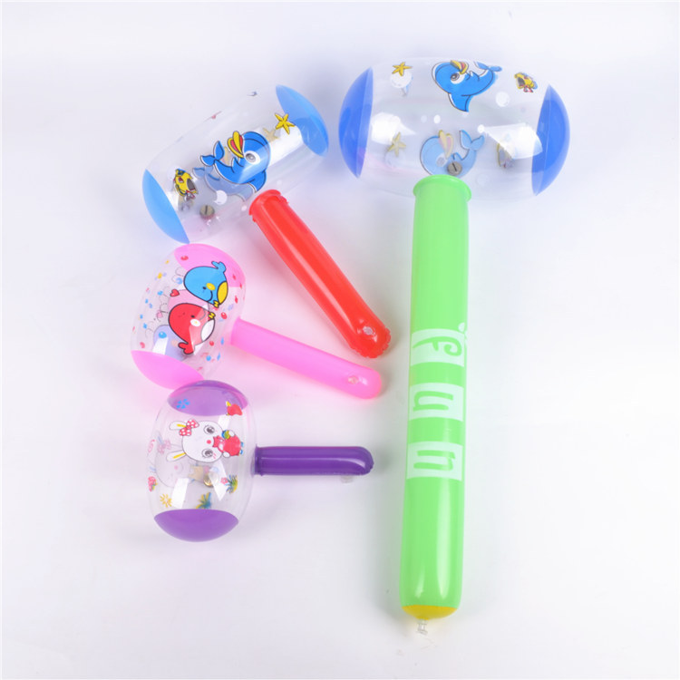 New cartoon inflatable hammer inflatable hawith Bellmmer for children cartoon inflatable toy gift hammer