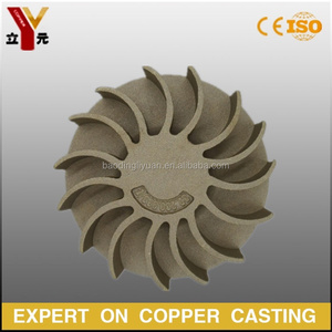 customized investment cast bronze small water pump impeller