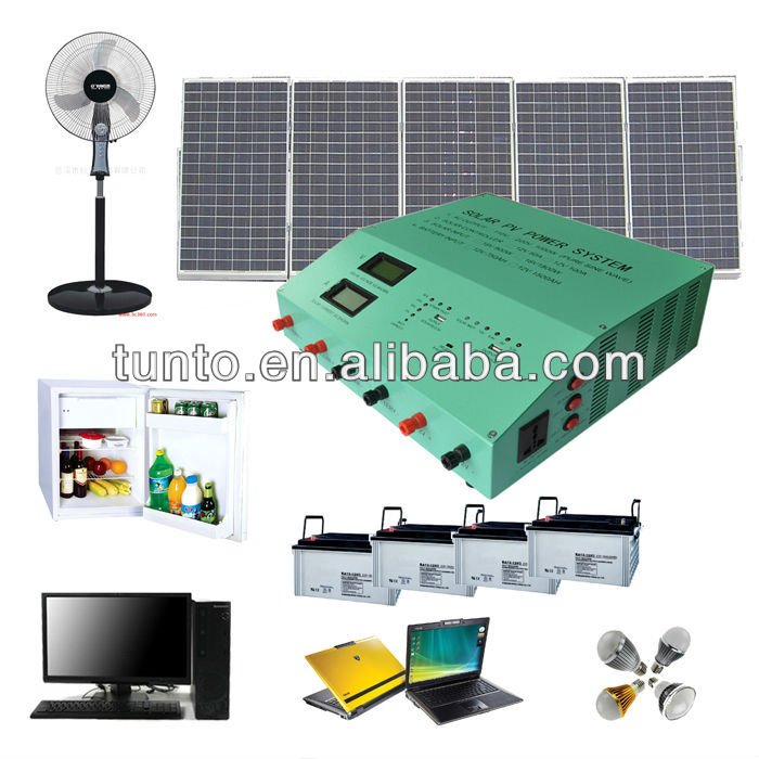 Complete Home Solar Power System 1200 Watt solar home lighting kit
