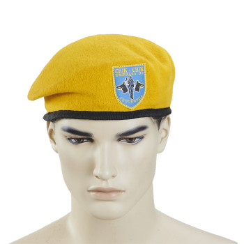 Customized Wool Felt Military Yellow Beret