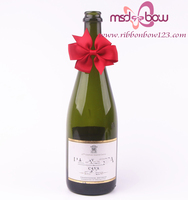 wholesale wine bottle neck decorative bows for gift packing